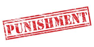 Punishment  stamp Royalty Free Stock Images