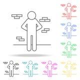 punition d'exécution Éléments de la mort dans les icônes colorées multi Icône de la meilleure qualité de conception graphique de  illustration stock