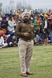 A punjab police man in uniform. An active Punjab Police cop at the annual Hola Mohalla celebration at Anandpur Sahib, Punjab, India Stock Photos