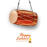 Punjabi festival, Happy Lohri celebration with drum. Royalty Free Stock Photos