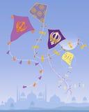 Punjabi kites stock illustration