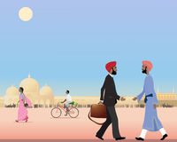 Punjabi meeting Stock Photography