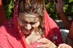 Punjabi Wedding. Beautiful Indian, Punjabi Bride at her wedding Stock Photo