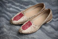 Punjabi wedding shoes Stock Images
