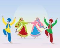 Punjabiaktörer Royaltyfri Bild