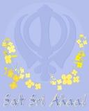 Punjabihälsningkort Royaltyfri Fotografi