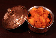 Punjabikartoffel-Currygemüse Stockfoto
