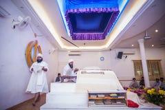 Punjabipräster i Gurdwara arkivfoton