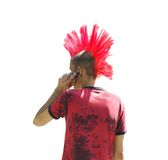 Punk. The punk with the red hairdress, isolated on white Stock Photo