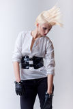 Punk blond beautiful fashion girl Royalty Free Stock Photography
