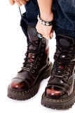 Punk boots Stock Photography