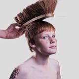 Punk Boy. Cute boy posing as a punk Stock Images