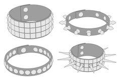 Punk bracelets. Cartoon image of punk bracelets Stock Image