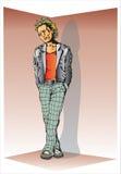 punk bujak mężczyzną ilustracji