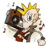 Punk com estéreo. Série dos desenhos animados Imagens de Stock Royalty Free