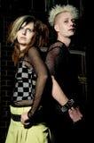 Punk couple Stock Photography