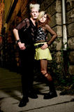 Punk couple Stock Photos