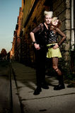 Punk couple Stock Photo