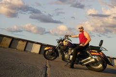 Punk del motociclo Fotografie Stock Libere da Diritti