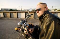 Punk del motociclo Fotografia Stock
