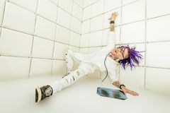 Punk doctor in madhouse royalty free stock photos