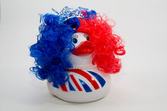 Punk Duck. Picture of a crazy rockin punk duck Royalty Free Stock Image
