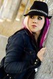 punk för modemodell fotografering för bildbyråer