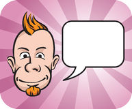 Punk face with speech bubble. Vector illustration of Punk face with speech bubble Stock Photo
