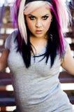 Punk Fashion Model royalty free stock photography