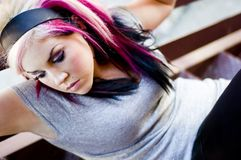 Punk Fashion Model Stock Photo