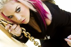 Punk Fashion Model Royalty Free Stock Photo