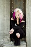 Punk Fashion Model Royalty Free Stock Photography