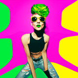 Punk fashion style club party girl Stock Images