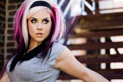 punk för modemodell Royaltyfri Bild