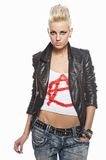 Punk girl with a cigarette Royalty Free Stock Photography