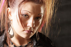 Punk girl face Royalty Free Stock Image