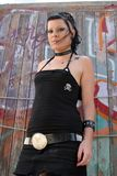 Punk Girl by graffiti 002. Punk Girl by graffiti royalty free stock photography