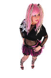 Punk girl with pink hair Stock Photos