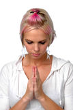 Punk Girl Praying Royalty Free Stock Photo