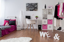 Punk girl room design Stock Images