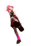 Punk girl wants to trample you. Royalty Free Stock Images