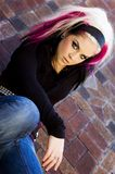 Punk Goth Fashion Model Stock Images