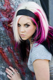 Punk gothic fashion model Royalty Free Stock Photos