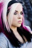 Punk gothic fashion model Stock Images