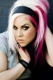 Punk gothic fashion model Stock Photo