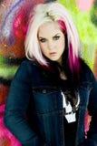 Punk gothic fashion model Stock Image