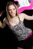Punk Guitar Girl Stock Photos