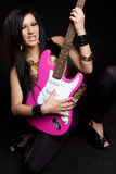 Punk Guitar Girl. Punk rock star guitar girl Stock Photography