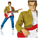 Punk With The Guitar Stock Image