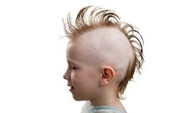 Punk hair child boy Stock Image